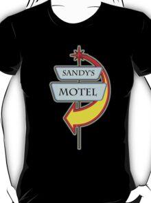 Sandy's Motel campy truck stop tee  T-Shirt