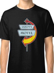 Sandy's Motel campy truck stop tee  Classic T-Shirt