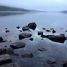 Misty Dawn on Loch Earn by elmilligano