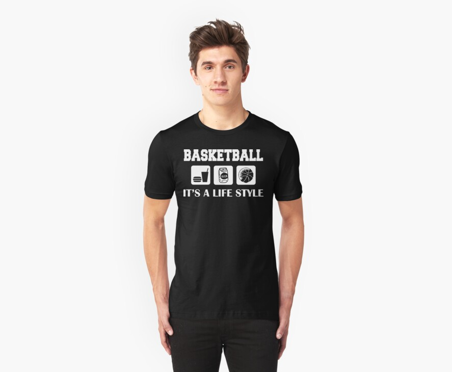 Eat Drink Beer Basketball by SportsT-Shirts