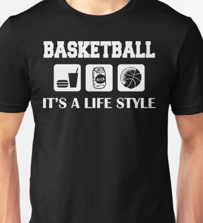 Eat Drink Beer Basketball Unisex T-Shirt