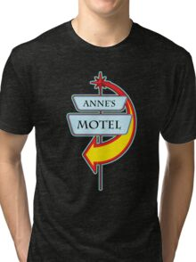 Anne's Motel campy truck stop tee  Tri-blend T-Shirt