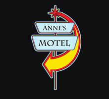 Anne's Motel campy truck stop tee  Womens Fitted T-Shirt