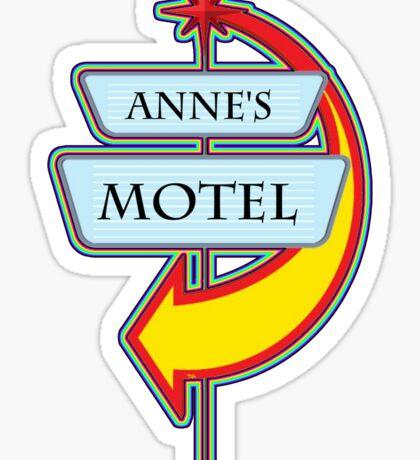 Anne's Motel campy truck stop tee  Sticker