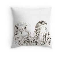 Falcon and Hawk Throw Pillow