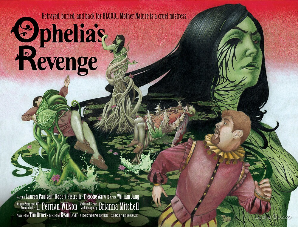 Ophelia's Revenge (with text) by Laura Guzzo