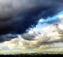 New York City, end of hurricane Sandy by Alberto  DeJesus
