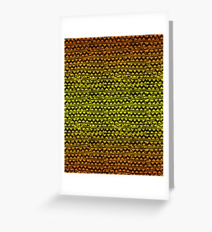 mosaic stripes  Greeting Card