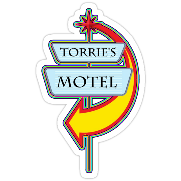 Torrie's Motel campy truck stop tee  by Tia Knight