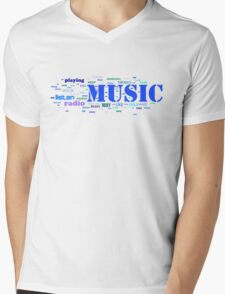 NUSIC AND EVERYTHING Mens V-Neck T-Shirt