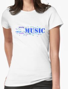 NUSIC AND EVERYTHING Womens Fitted T-Shirt