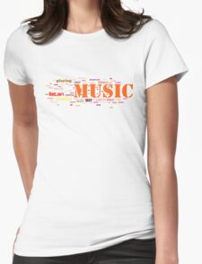MUSIC AND EVERYTHING Womens Fitted T-Shirt