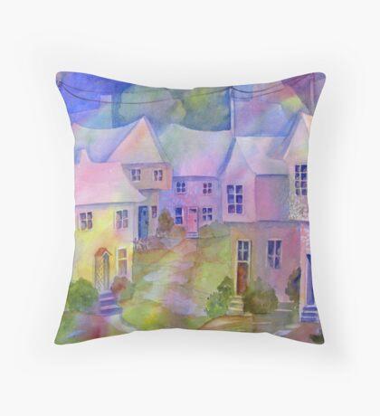 The Village Green Throw Pillow