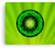 Vibrant Green Mandala  Canvas Print