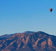 Boulder Colorado Flatirons Hot Air Balloon View  by Bo Insogna