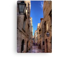 An Alley in Dubrovnik Canvas Print