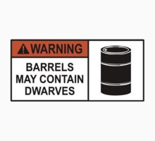 Hobbit Warning Label T-Shirt