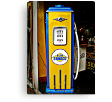 Blue Sunoco vintage gas pump Canvas Print