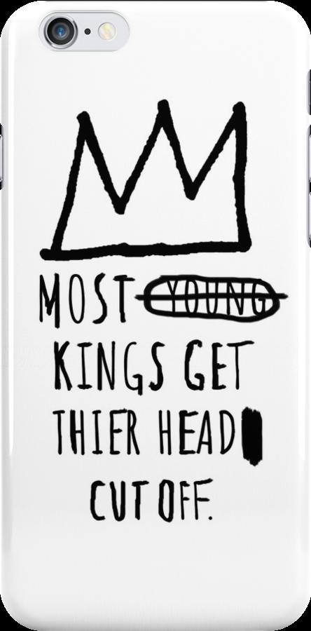 Jean-Michel Basquiat iPhone Case by Miles Goscha