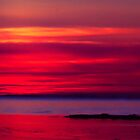 Red Watercolour Sunset by handyandypandy