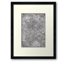 Literary 01 Framed Print