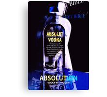 Absolution - Absolut Advertisement (made up) Canvas Print