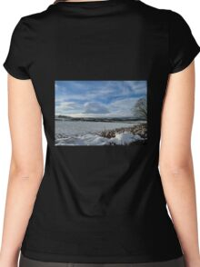 White Winter , Blue Winter Women's Fitted Scoop T-Shirt
