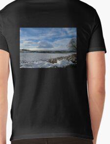 White Winter , Blue Winter Mens V-Neck T-Shirt