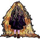 Faceless Girl au manteau et liseré noir by studinano