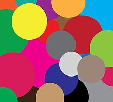 Coloured circles by PJ Fowler