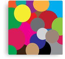 Coloured circles Canvas Print
