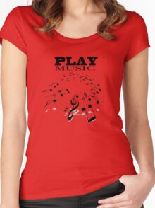 PLAY MUSIC Women's Fitted Scoop T-Shirt