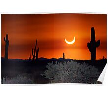 Partial Annular Eclipse from Cave Creek, Arizona 2012 - I Poster