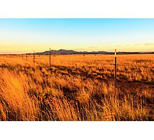 Barbed Wire Fence New Mexico Photographic Print
