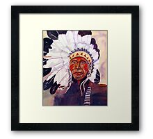 CHIEF RED DOG Framed Print