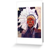 CHIEF RED DOG Greeting Card
