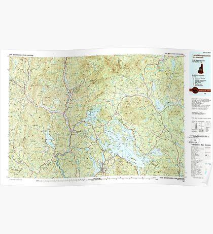 USGS TOPO Map New Hampshire NH Lake Winnipesaukee 330408 1986 100000 Poster