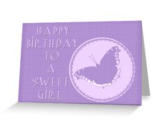Birthday Girl Greeting Card - Mourning Cloak Butterfly Greeting Card