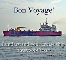 Bon Voyage Greeting Card - Enjoy Your Cruise by MotherNature