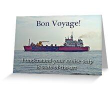 Bon Voyage Greeting Card - Enjoy Your Cruise Greeting Card