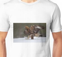 Golden eagle in snow Unisex T-Shirt