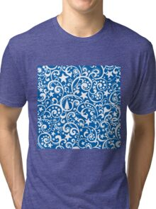 Christmas & New Year pattern Tri-blend T-Shirt