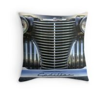 Black Cadillac Grill and Headlights Throw Pillow