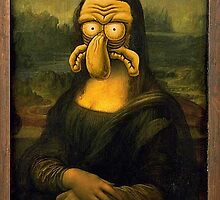 Squidward/Mona Lisa by Lutubert
