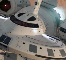 IXS Enterprise leaving Mars Sticker