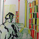 Library, perspective and a person. by Chris-Hayes