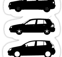 VW Golf Black Mk1-Mk7 Sticker