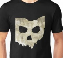 SKULLHIO - Ohio Shaped Skull Unisex T-Shirt