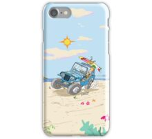 Willys Overland CJ3A Universal Jeep surfing! iPhone Case/Skin