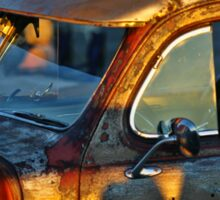 Old Plymouth Car Visor Sticker